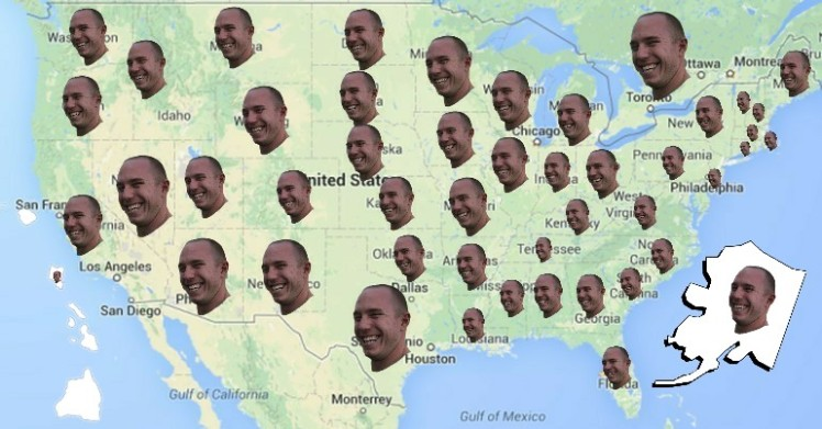 Jeremy faces all 50 states